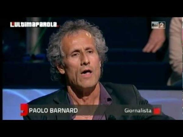 Paolo Barnard: Monti un criminale che lavora alla distruzione dell'Italia. Colaninno esplode