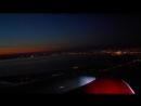 Ночная посадка Боинг 737 в Пулково Night anding Boeing 737 at Pulkovo International Airport