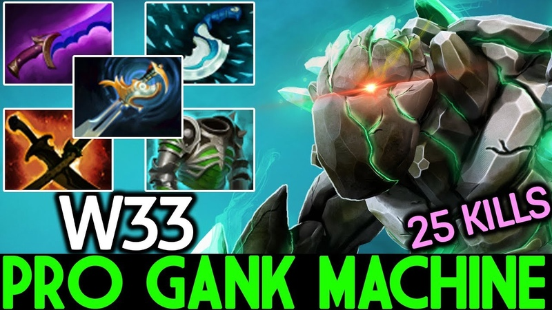 W33 [Tiny] WTF Pro Gank Machine 25 Kills Brutal Game 7.20 Dota 2