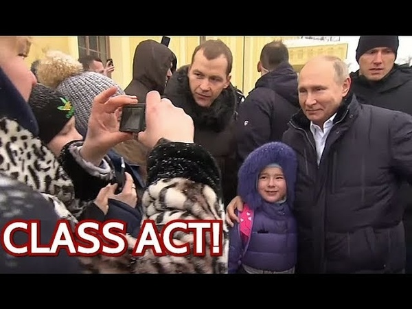 WOW Putin Stops His Limo To Comfort Crying Girl And Take Photo With Her! Watch Until The End!