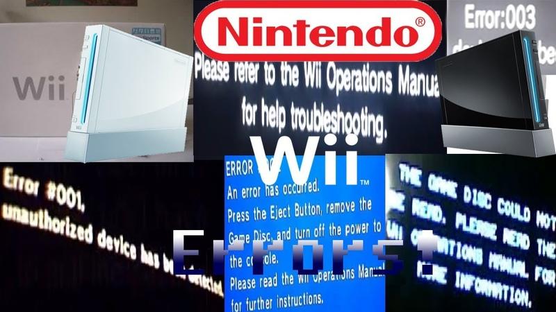 Nintendo Wii All Errors! forgotten Xbox One Error (REUPLOAD)