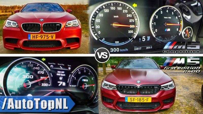 BMW M5 F90 vs BMW M5 F10 | 300km/h ACCELERATION TOP SPEED BATTLE AUTOBAHN POV by AutoTopNL