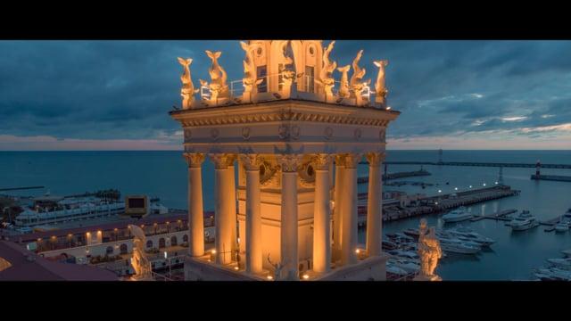 Port of Sochi. Аэросъемка Сочи - морской вокзал