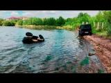 Квадроцикл с положительной плавучестью в реке Урал.