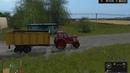 К МТЗ 80 подцепляем ПТС 9 и на поле Farming Simulator 2017