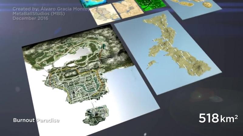 Video Game Map Size Comparison