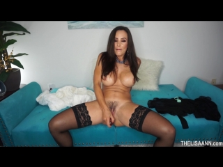 Lisa Ann [ porn star big tits ass booty homemade solo play dildo New toy play Bitch Whore Slut Fuck домашнее секс порно ]