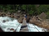 подвесной мост через реку Снежная