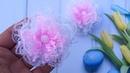 Камелия из кружева мк Lace Camellia