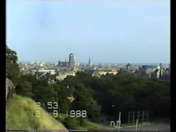 Spacer po Gdańsku - Wyspa Spichrzów, panorama miasta, rok 1988