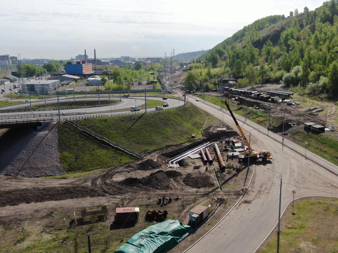 Один из участков строительства новой тепломагистрали