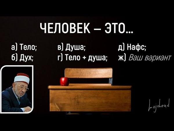 Человек — это… Что такое человек Тело Разум Душа Дух Нафс Шейх Рамадан аль-Буты.
