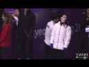 2018.02.24 Yuzuru Hanyus cute moments with other skaters on Olympics Gala Pract_1