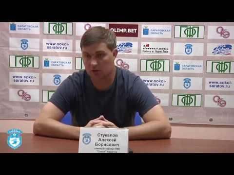 Олег Морозов и Алексей Стукалов после победного для Сокола матча в Саратове