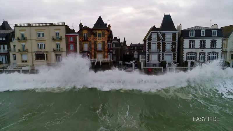 Шторм Элеонор в Сен Мало Бретань Франция 3 01 2018