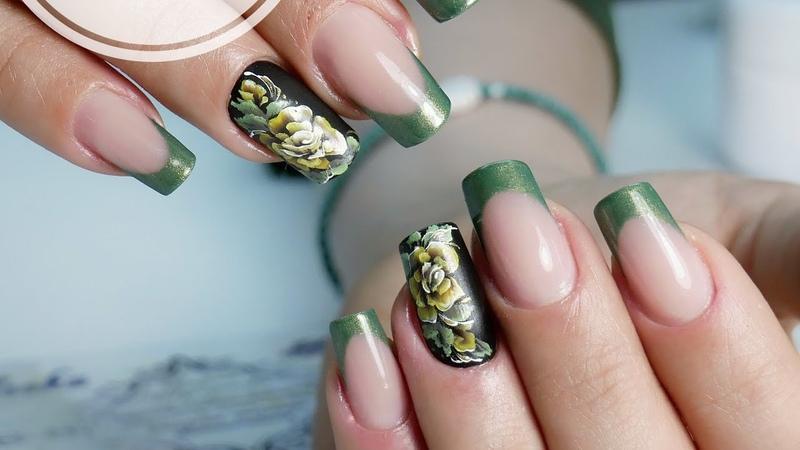 Eng CC Весенний дизайн ногтей Цветы на ногтях Как рисовать китайскую роспись