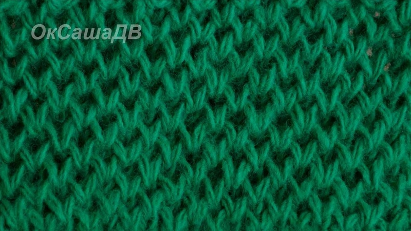 Узор Соты способ №2. Вязание спицами. Knitting. Pattern Honeycomb.