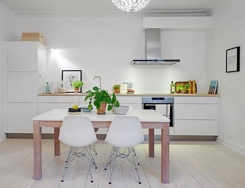 дизайн кухни без верхних шкафов вконтакте