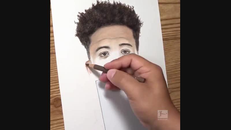 Изумительный портрет Джейдона Санчо карандашами