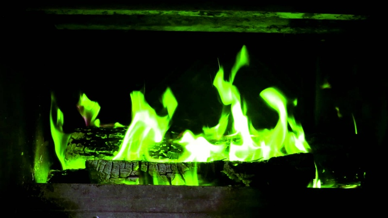 Colored fire in FirePlace Green Blue Violet Canon 6D