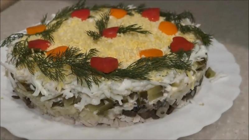 Новогодний салат КУРОЧКА РЯБА. ВКУСНЫЙ и СЫТНЫЙ _New Years salad