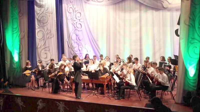 Юбилейный вечер, выступление оркестра народных инструментов