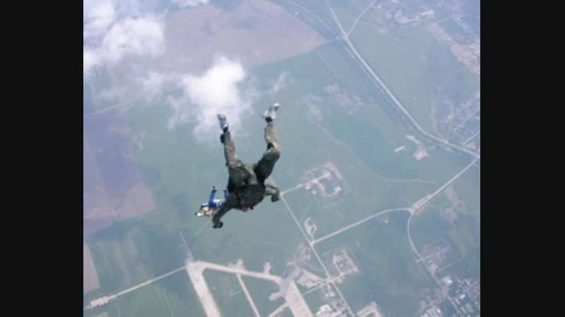Моздок Первый прыжок с парашютом