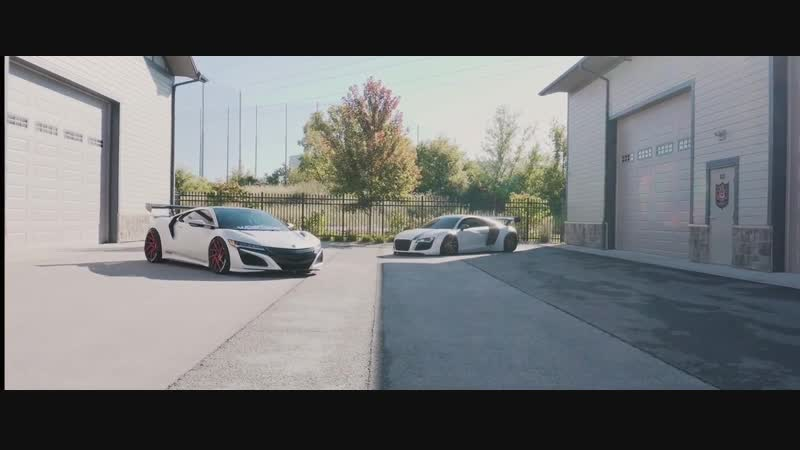 Slammed Acura NSX and Widebody Audi R8 by shansolo