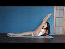 Flexible gymnastics contortion flexibility yoga - stretching routine standing splits