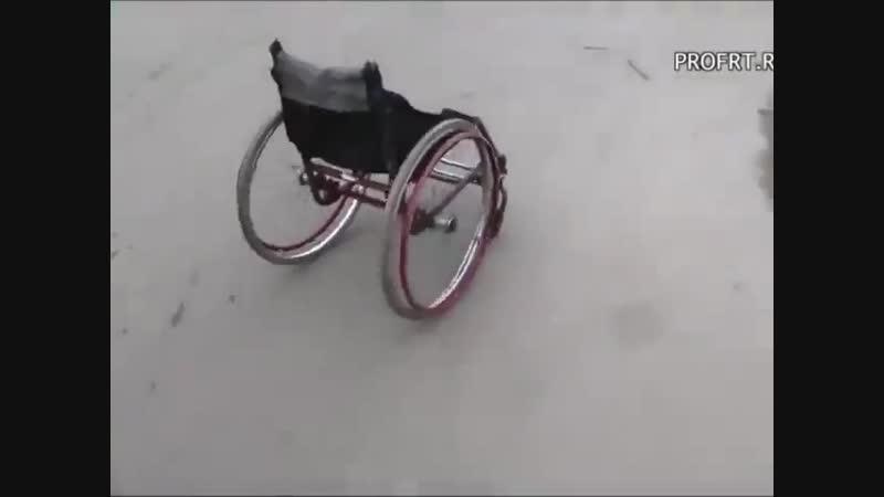 Каскадёр тестирует пандусы для инвалидов в России