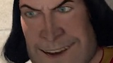 Shrek arena scene but every time Farquaad talks it's zoomed in on his face and it's ear rape