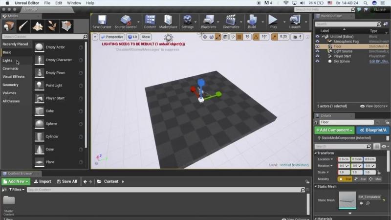 [Гоша Дударь] Уроки по Unreal Engine 4 3 - Разбор интерфейса