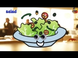 Food Song - Learn 15 Food and Drinks - Learn English Kids