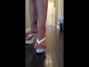 High heel thong toe spread