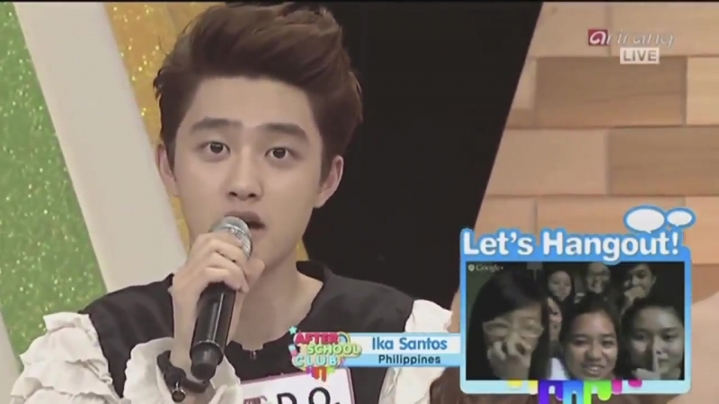 130612 Kyungsoo singing Open Arms and saying listen while casually ending the After School club set