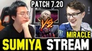 SUMIYA watching how MIRACLE Invoker vs Broodmother | Sumiya Invoker Stream Moment 419