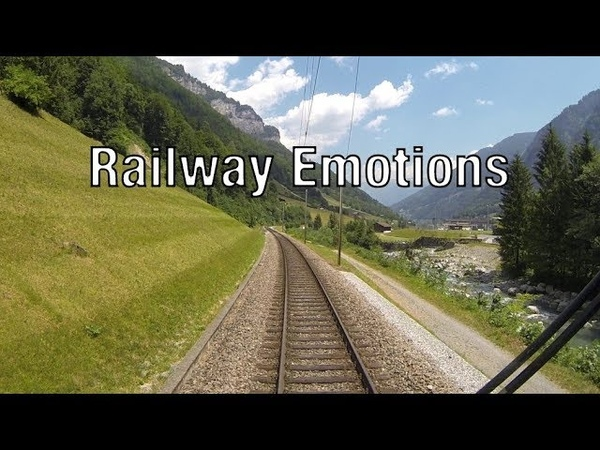Commuter service in picturesque scenery (Cab Ride Switzerland | S25 Linthal - Zurich)