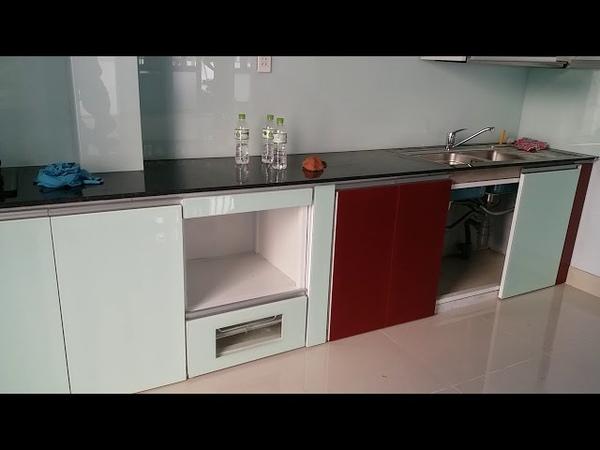 Mẫu Tủ Bếp Nhôm Kính Cao Cấp Sơn Tĩnh Điện Đẹp Giá Rẻ Tại Tphcm