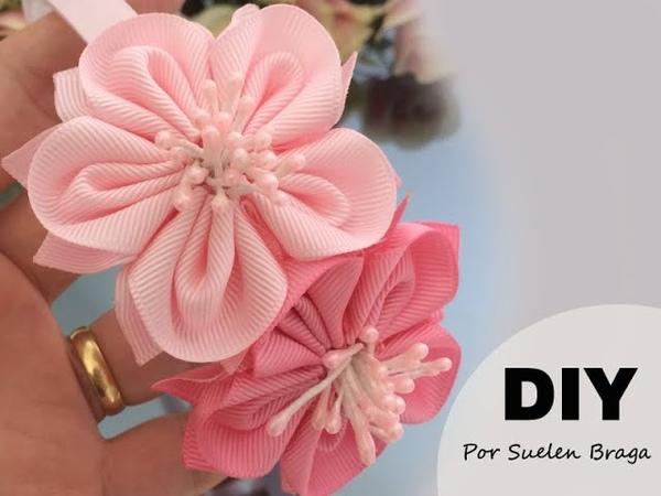 🌹 Flor abertinha de gorgorão - PAP - DIY 👉🏻By Suelen