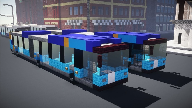 Minecraft NYC New Flyer Xcelsior XD60 Articulated Bus Tutorial