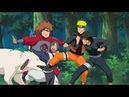 Naruto Zora Lee Kiba Akamaru y Chouji se pelean y Asuma y Shikamaru los Detienen