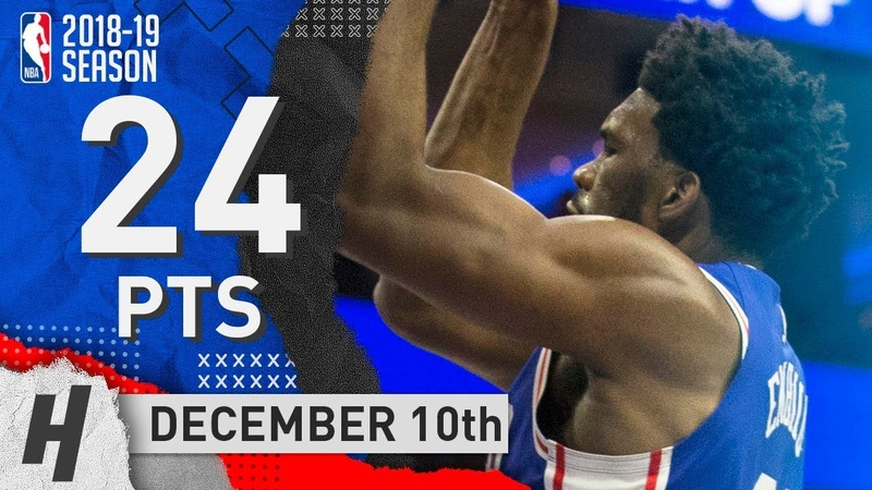 Joel Embiid Full Highlights 76ers vs Pistons 2018.12.10 - 24 Pts, 3 Ast, 8 Rebounds!