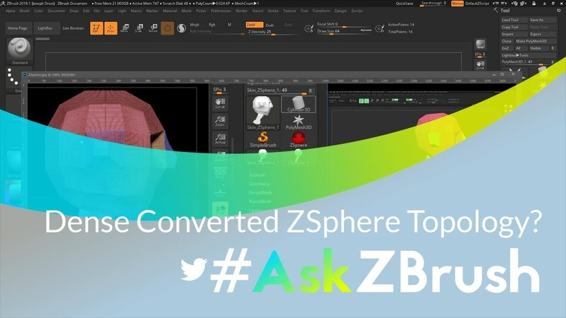 """AskZBrush: """"When converting a ZSphere model my mesh is really dense. Why is this happening?"""""""