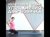 Укрепляем спину: упражнения для новичка