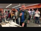 Arnold Schwarzenegger signing Conan swords and other memoirbillia items. Fantastic!