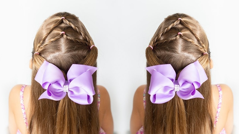 5 MINUTE ELASTIC HAIRSTYLE - LITTLE GIRL HAIR IDEAS