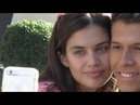 EXCLUSIVE : Sara Sampaio posing with fans at her Paris hotel