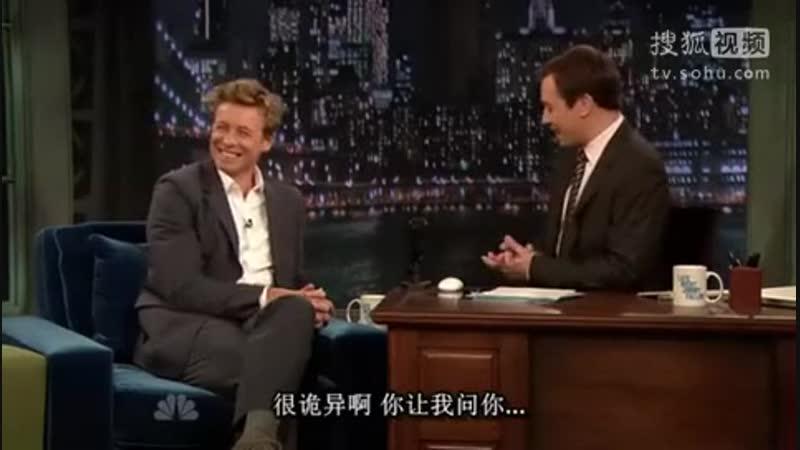 Simon Baker on Late Night with Jimmy Fallon, 2009