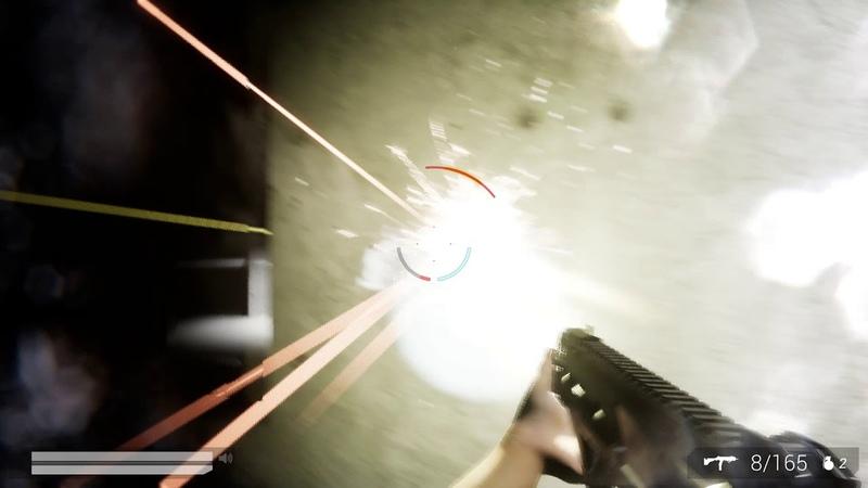 Slow mo shotgun and minigun rampage