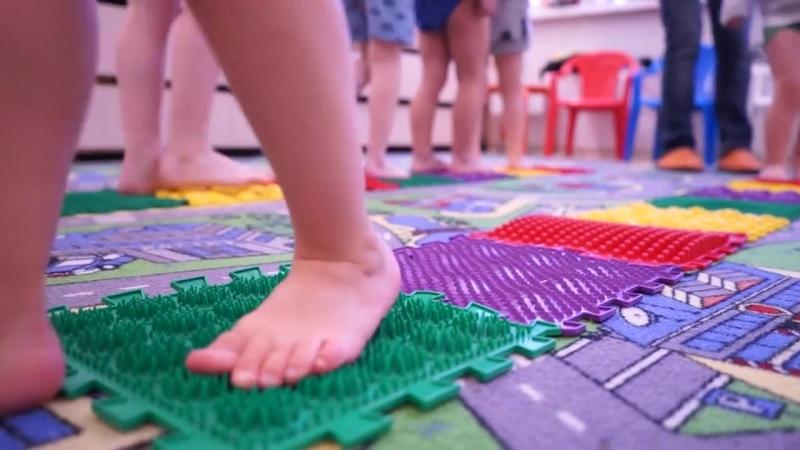 Занятия на массажных ковриках ОРТОПАЗЛ в детском саду